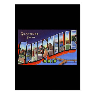 Greetings from Zanesville Ohio Postcard