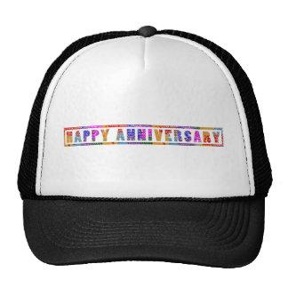 Greetings : HappyANNIVERSARY Happy Anniversary Mesh Hats