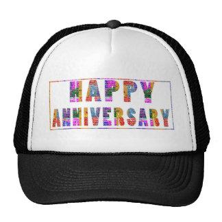Greetings : HappyANNIVERSARY Happy Anniversary Trucker Hat