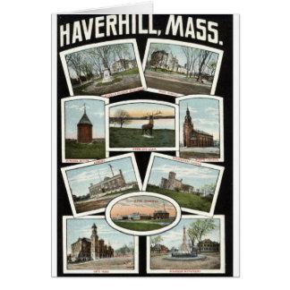 Greetings Haverhill Massachusetts 1910 Vintage Greeting Card