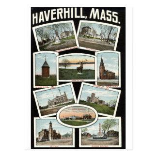 Greetings Haverhill Massachusetts 1910 Vintage Postcard