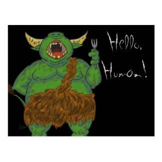 Greetings Human Troll Postcard
