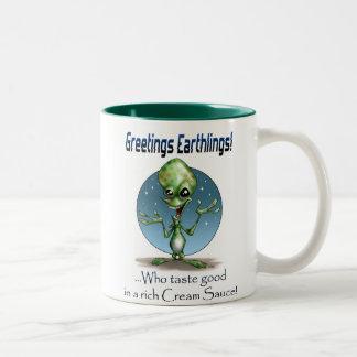 Greetings! Two-Tone Coffee Mug