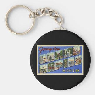 Greetings of Grand Rapids Michigan Keychain