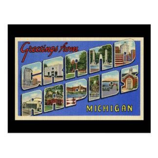 Greetings of Grand Rapids Michigan Postcard