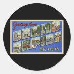 Greetings of Grand Rapids Michigan Classic Round Sticker