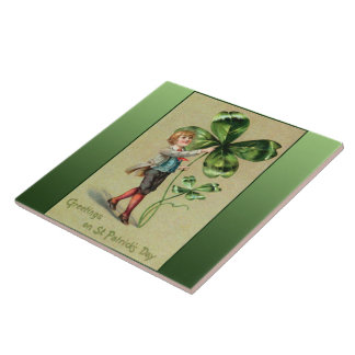 Greetings on St. Patrick's Day Tile