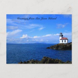 Greetings postcard