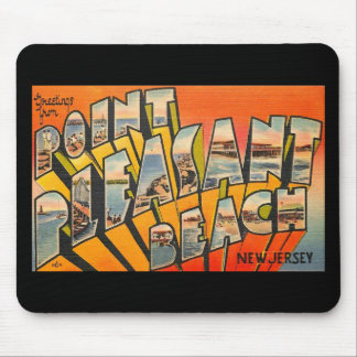 Greetings, Pt. Pleasant Beach, New Jersey Vintage Mouse Pad