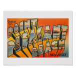 Greetings, Pt. Pleasant Beach, New Jersey Vintage Poster