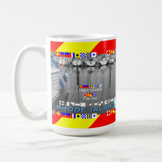 Greetings Rhode Island Marine Flags personalized Coffee Mug