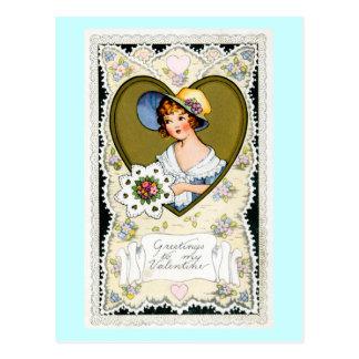 Greetings to my Valentine Postcard