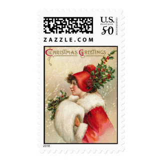 Greetings Vintage Christmas Stamps
