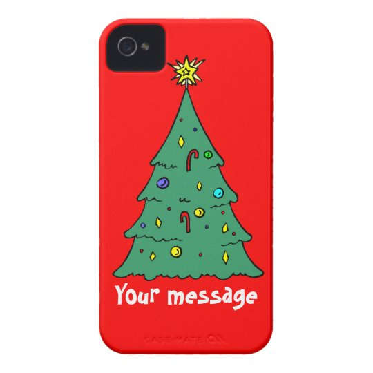 Greetings with Christma, just add your own message iPhone 4 Cover