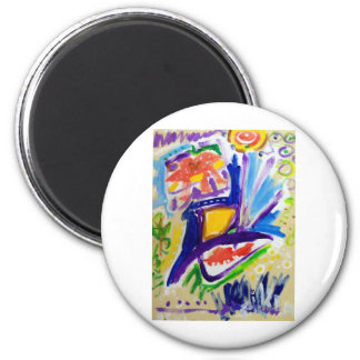 Greetings with Color by Piliero 2 Inch Round Magnet