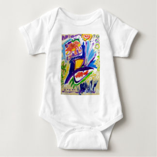 Greetings with Color by Piliero Baby Bodysuit