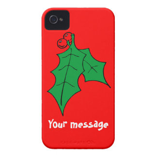 Greetings with holly, just add your own message iPhone 4 Case-Mate case