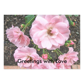 Greetings with Love Large Business Card