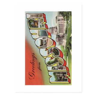 Greetins del tema grande del vintage de la letra tarjetas postales