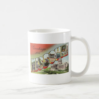 Greetins from Missouri Large Letter vintage theme Classic White Coffee Mug