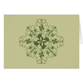 Greetting card with Latvian sun design