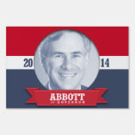 GREG ABBOTT CAMPAIGN BLUE -.png Lawn Sign