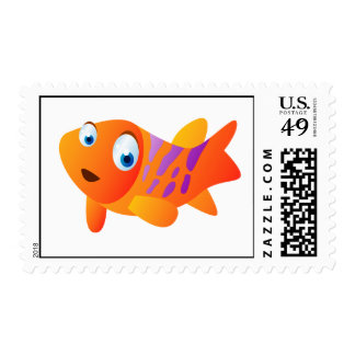 Greg el Goldfish Timbres Postales