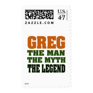 ¡Greg - el hombre, el mito, la leyenda! Timbres Postales