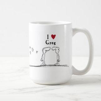 "Greg ""I love greg"" ""I heart greg"" Coffee Mug"