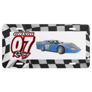 Gregg Racing License Plate