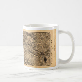 Gregg & Stuart's Cavalry Battle of Gettysburg Map Coffee Mug