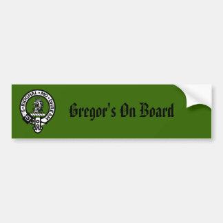 Gregor Badge, Gregor's On Board Car Bumper Sticker