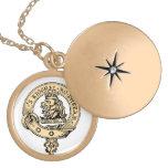 Gregor Badge Pendant Gold Locket