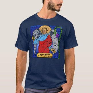 Gregor Mendel - stained glass T-Shirt