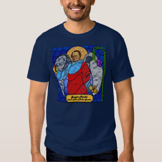 Gregor Mendel - stained glass T-shirts
