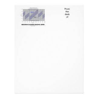 Gregorian Calendar Seasonal Error (Earth Science) Letterhead