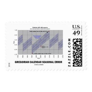 Gregorian Calendar Seasonal Error (Earth Science) Postage
