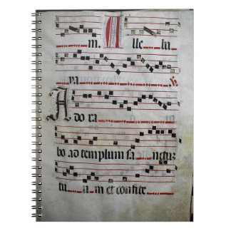 Gregorian Chant facsimile Note Book