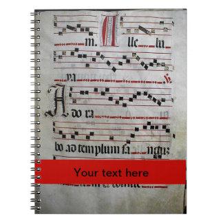 Gregorian Chant facsimile Spiral Notebook