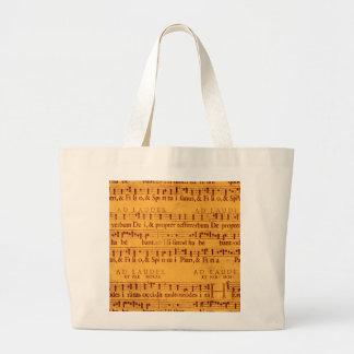 Gregorian chant music score canvas bag