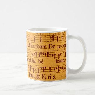 Gregorian chant music score coffee mug