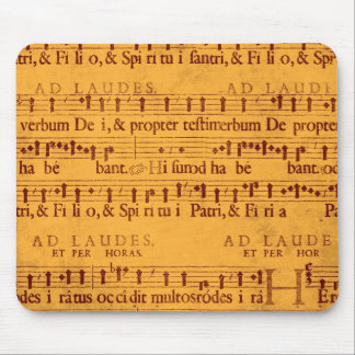 Gregorian chant music score mouse pads