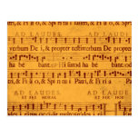 Gregorian chant music score postcard