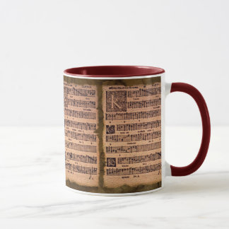 Gregorian Chant Music Sheet Drinking Mug