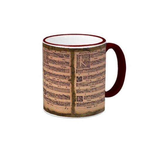Gregorian Chant Music Sheet Drinking Mug