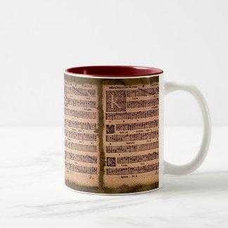 Gregorian Chant Sheet Music Drinking Mug
