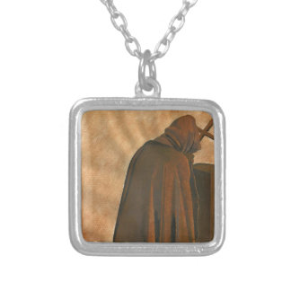 Gregorian Chant Silver Plated Necklace