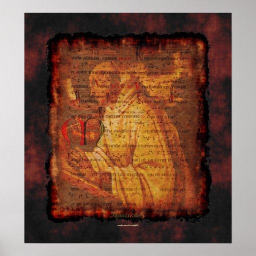 Gregorian Monk & Chant Music Religious Art Print