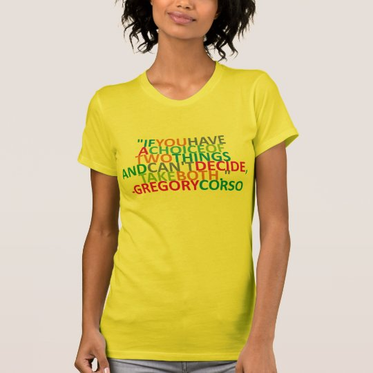 Gregory Corso Quotes (Beat Generation) T-Shirt