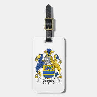 Gregory Family Crest Tag For Bags